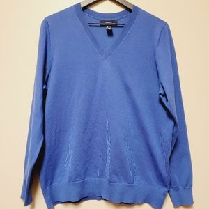 Lands End Outfitters V neck Sweater Large Royal